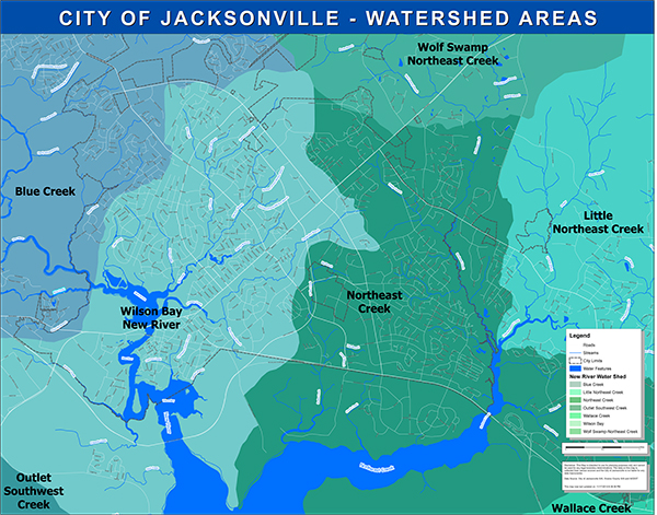 Jacksonville Watershed Maps