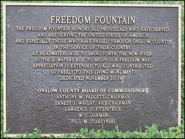 Original Freedom Fountain sign