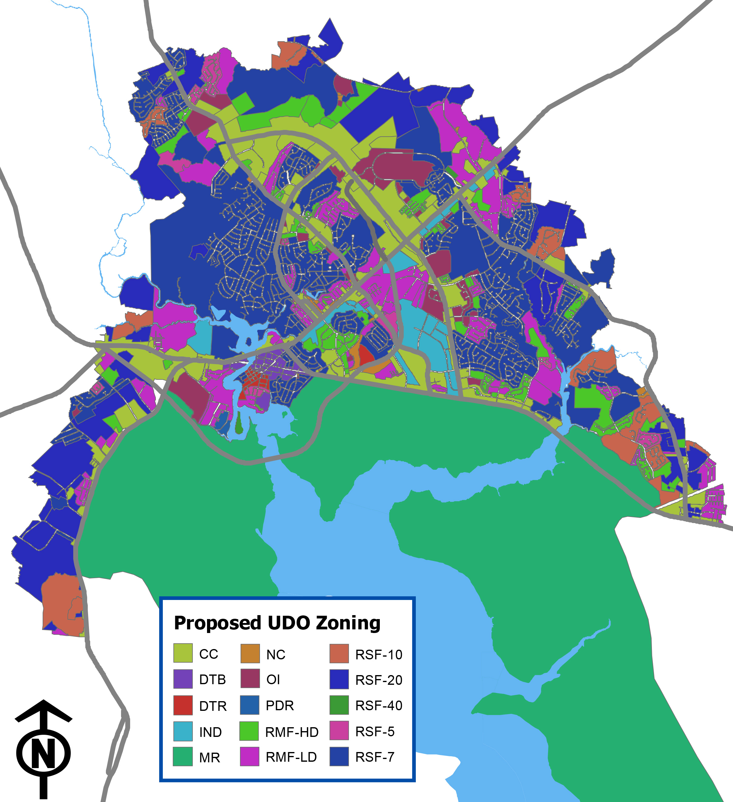 Proposed UDO Zoning Map