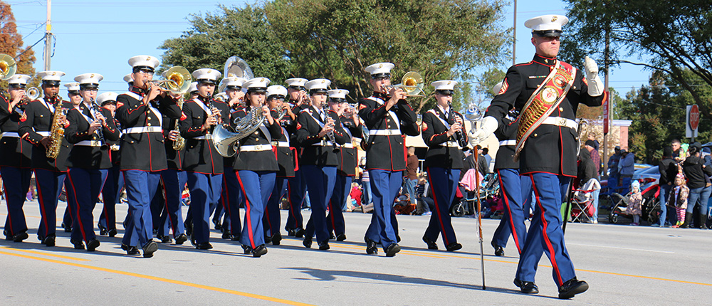 Marines in a parade