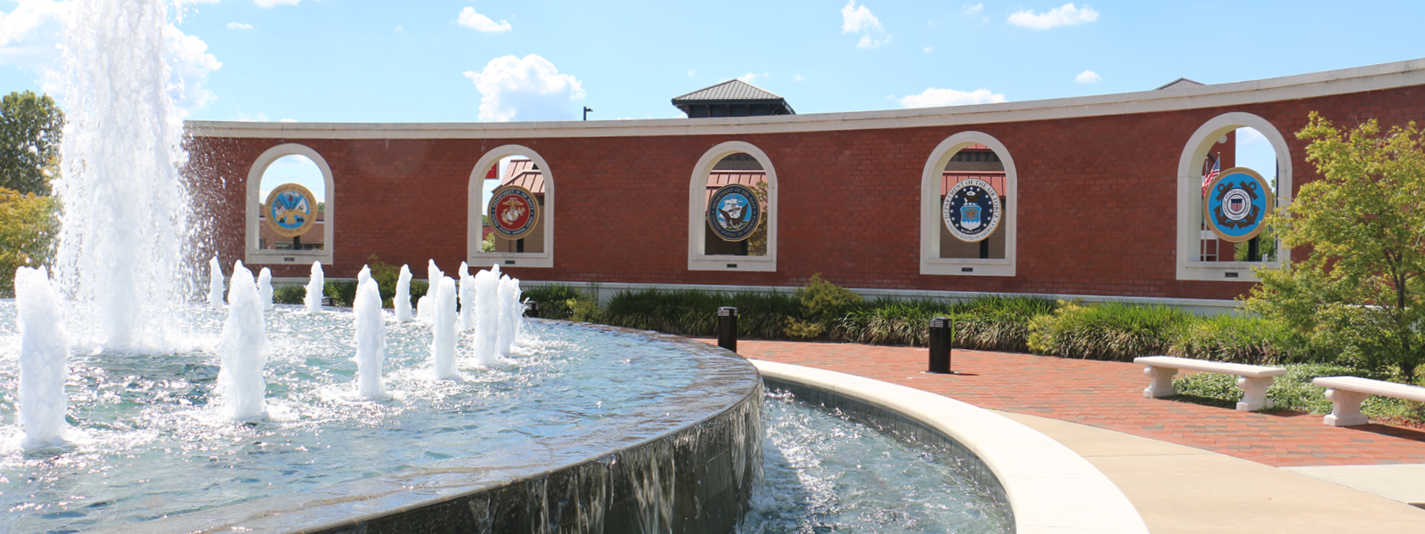 The Freedom Fountain honors all who have passed through our Community in service to their Country