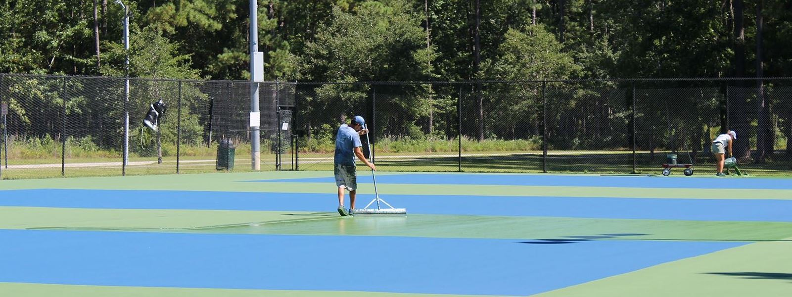 Jacksonville Commons Tennis Court Resurfacing