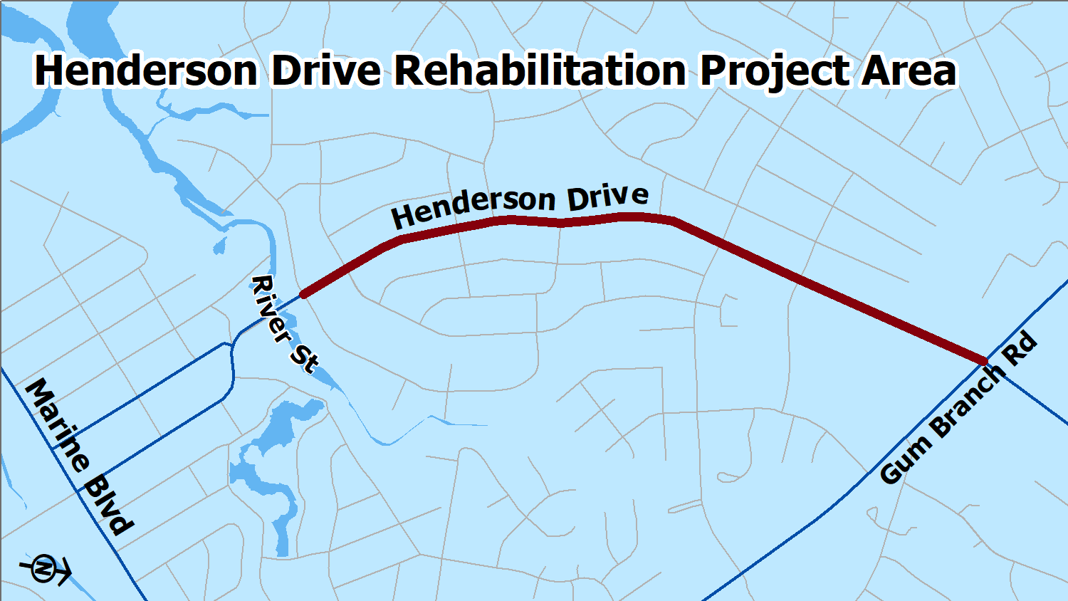 HendersonDr Map of Project Work-2019-01