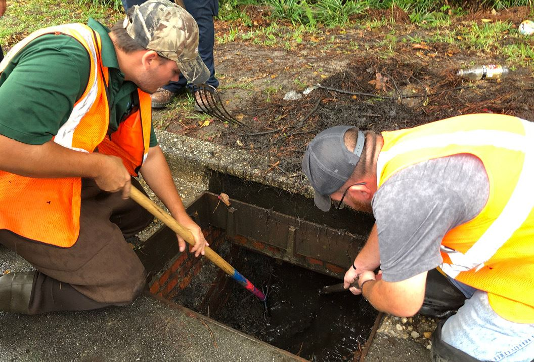 City Crews Cleaning Storm Drain Ahead of Storm