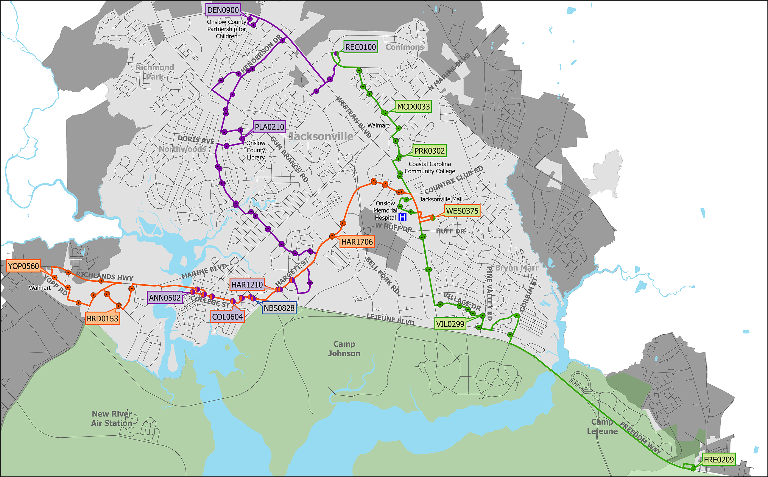 2017 City Routes Map