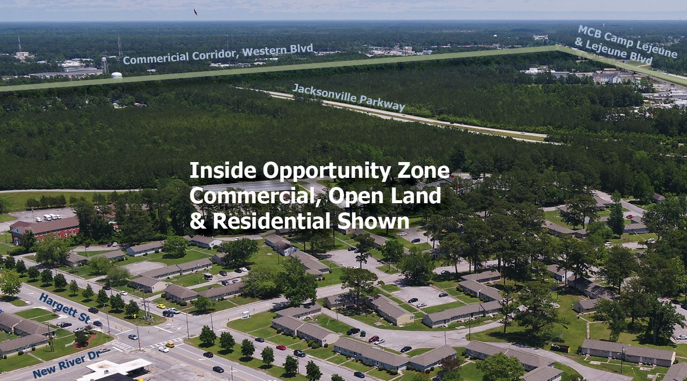 Jacksonville NC Opportunity Zone Aerial2