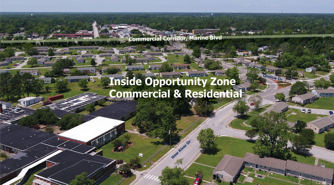 Jacksonville NC Opportunity Zone Aerial3