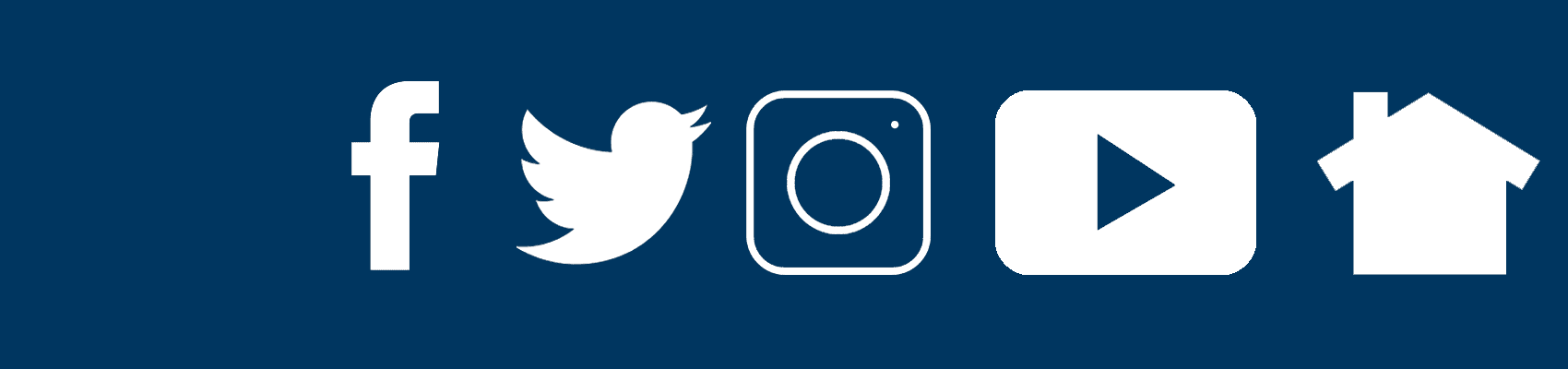 Social Media Icons in City Blue
