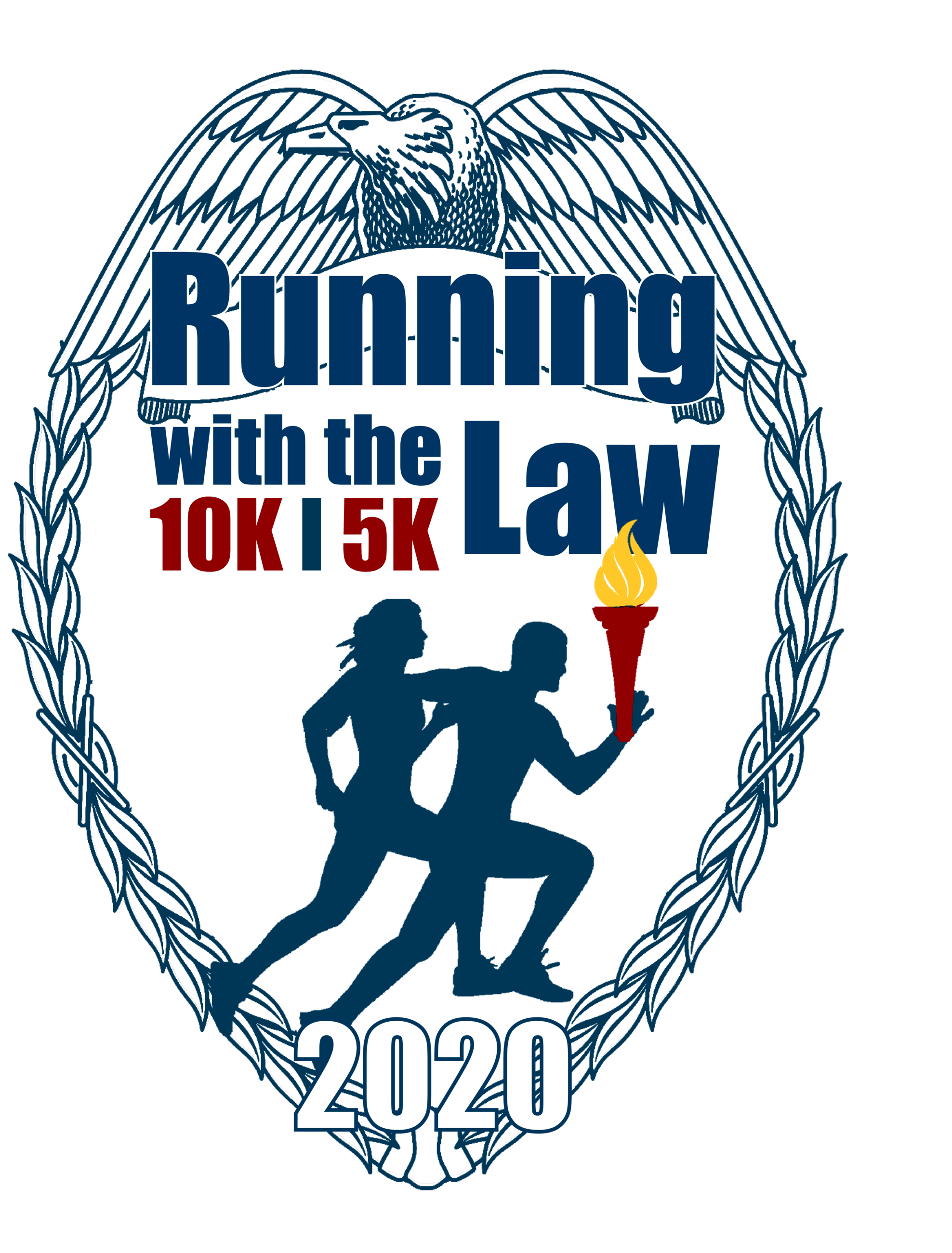 Running With the Law 2020 Medal