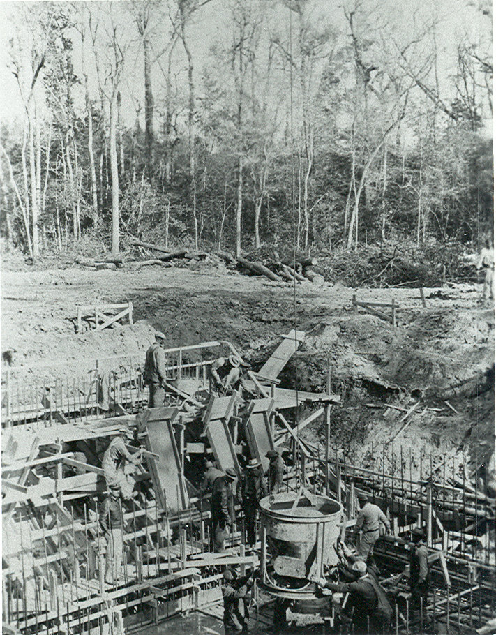 contruction at Camp Lejeune, circa 1940s