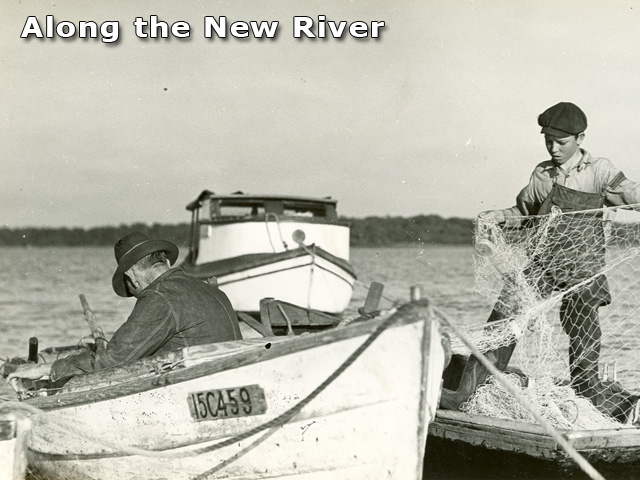 Fishing with Grandfather on the New River, date unknown