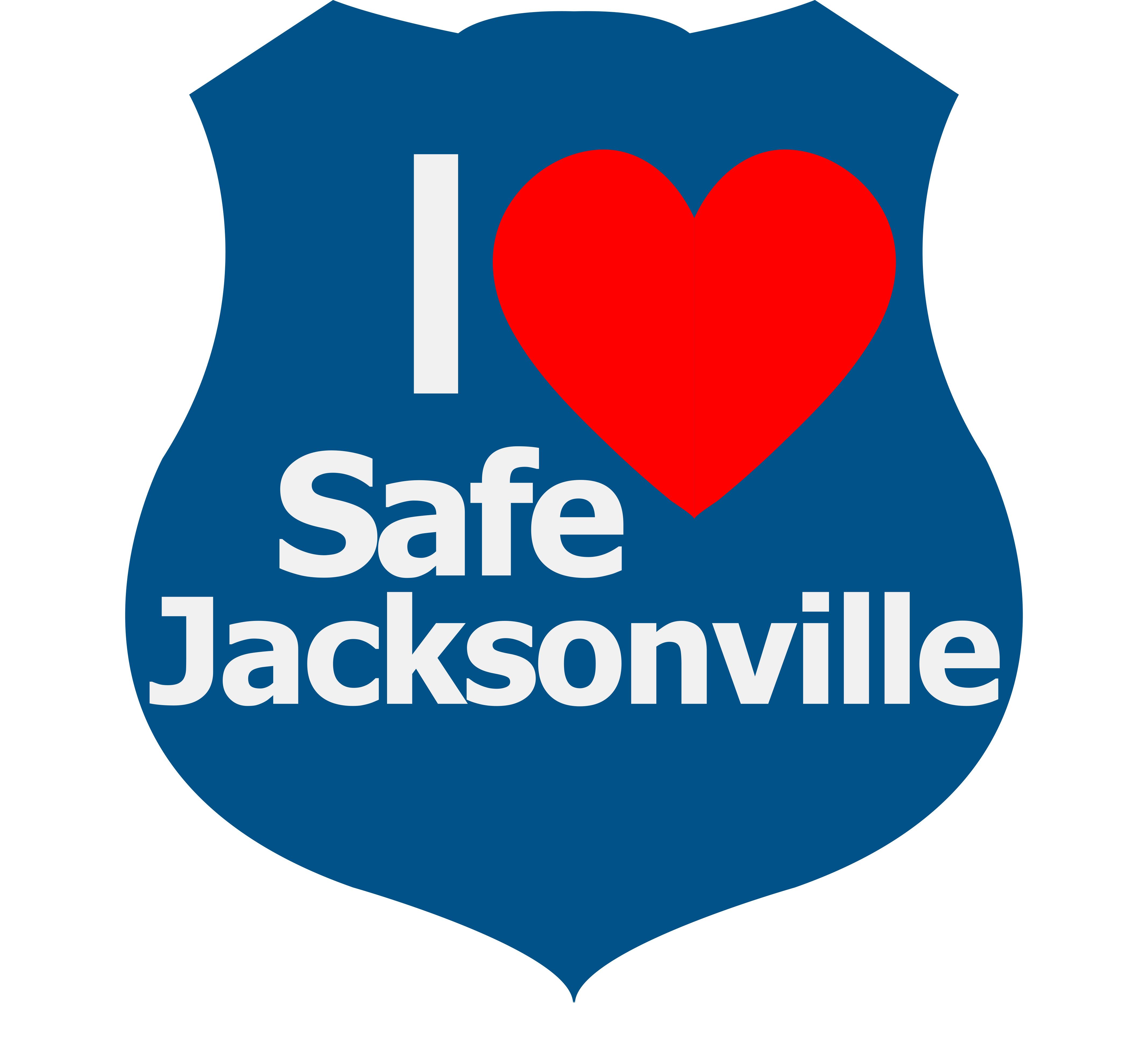 I Love a Safe Jacksonville logo