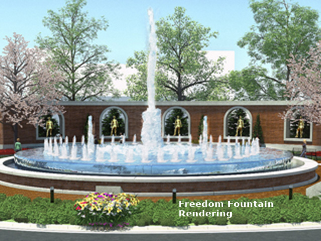 Artistic Rendering, Freedom Fountain