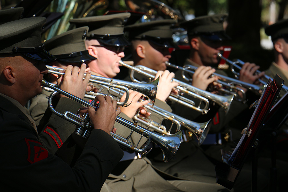 2d Marine Div Band at Beirut Memorial 2015