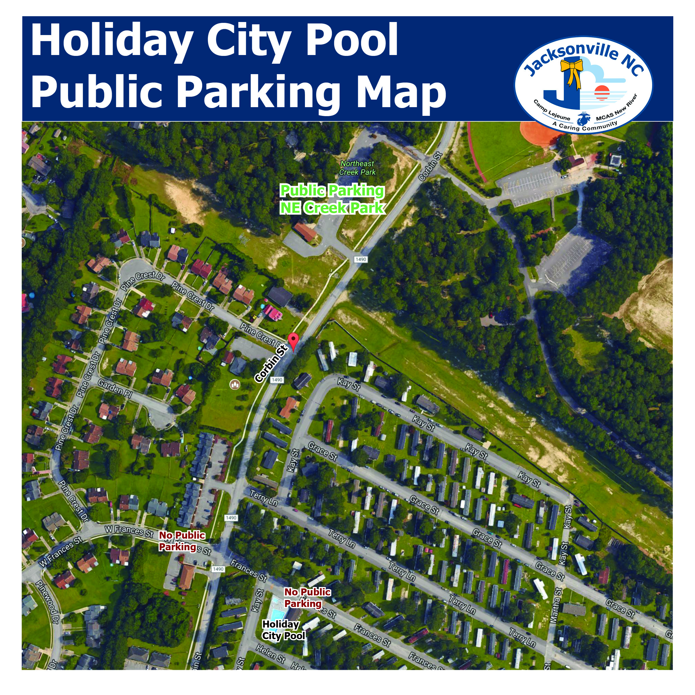 Public Parking for Holiday City Pool
